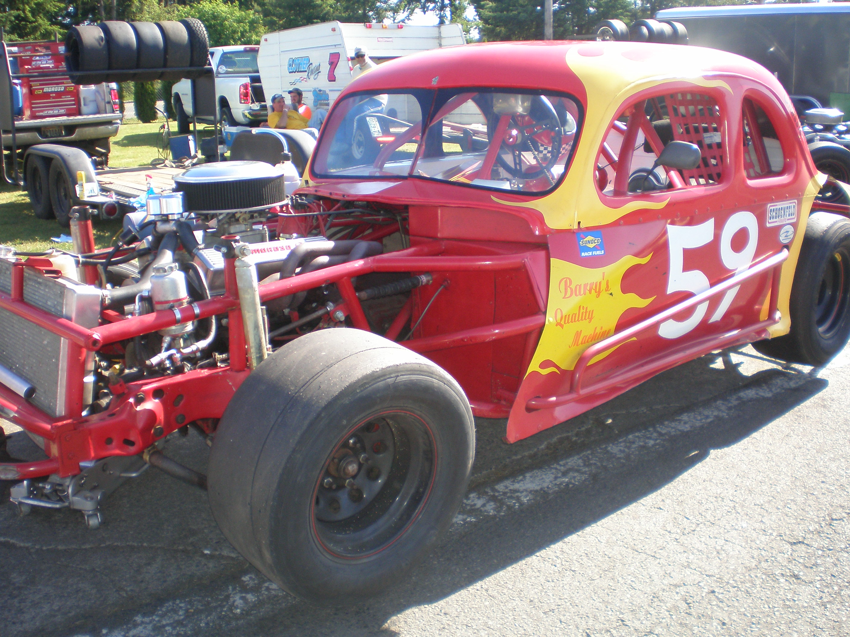 Dawn Huntley, in car #59, took 9th place in 2013 | NW Vintage Modified