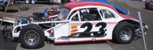 Car 23 owned by Chuck Peterson and driven by Jeff Peterson, who is currently in 2nd with 327 points.