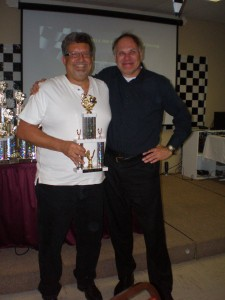 Robert Rux pictured with his sponsor, Charles from SYNAPSE FILMS.